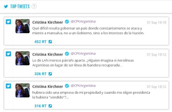 top tweets 1 septiembre