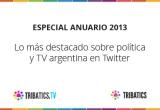 Lo más destacado de 2013 sobre política y TV argentina enTwitter